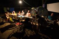 La sera in campeggio