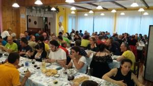 La cena del X Raduno delle Sture di Lanzo